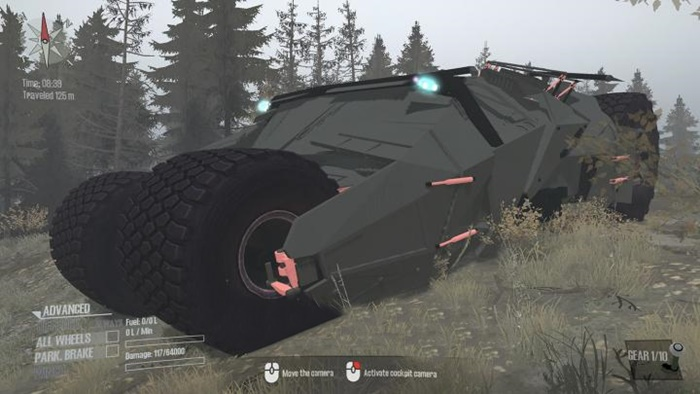 Spintires:Mudrunner - Batman Chariot Mod