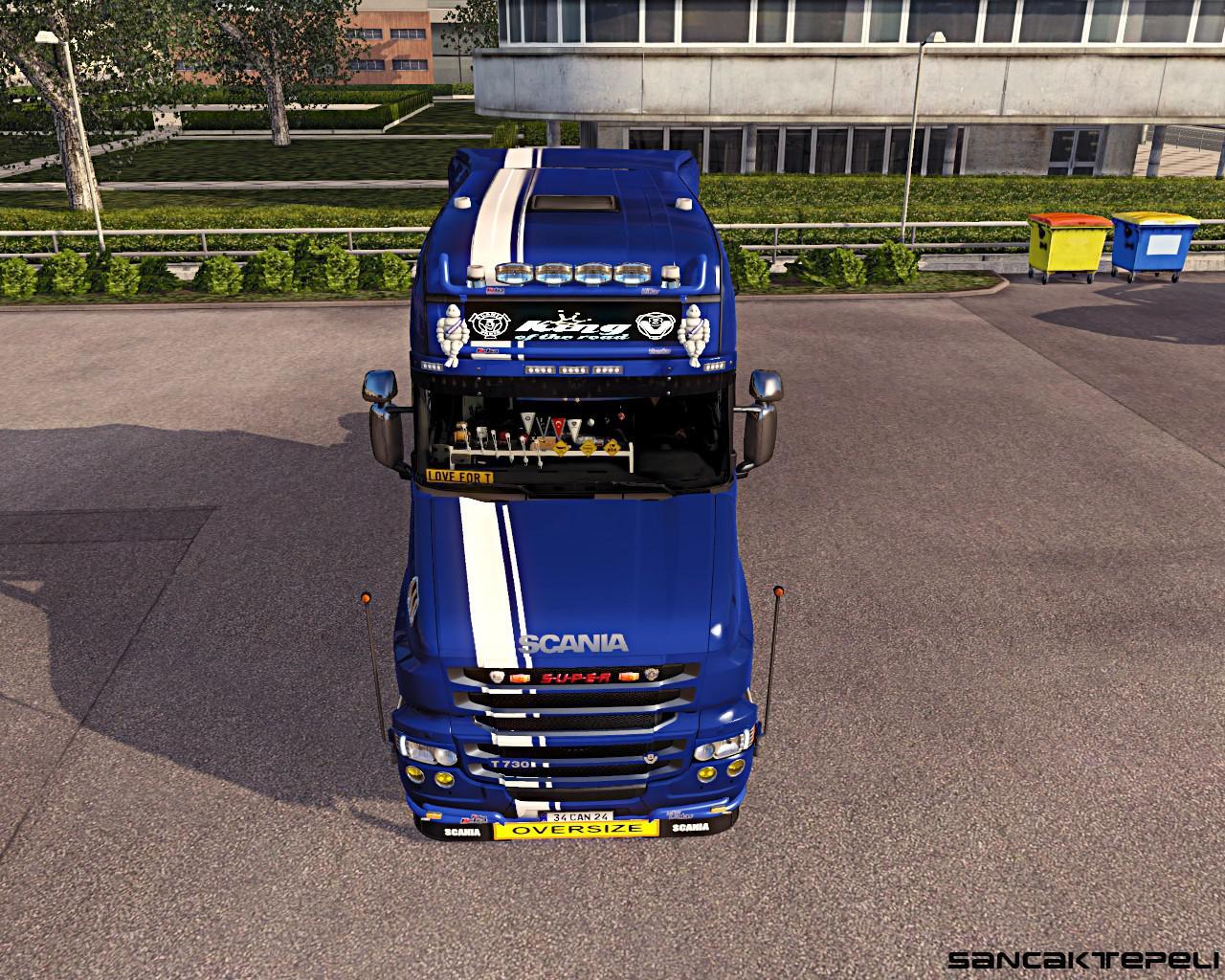 ETS2 - Scania Rjl T Metallic Griffin Skin (1.36.x)