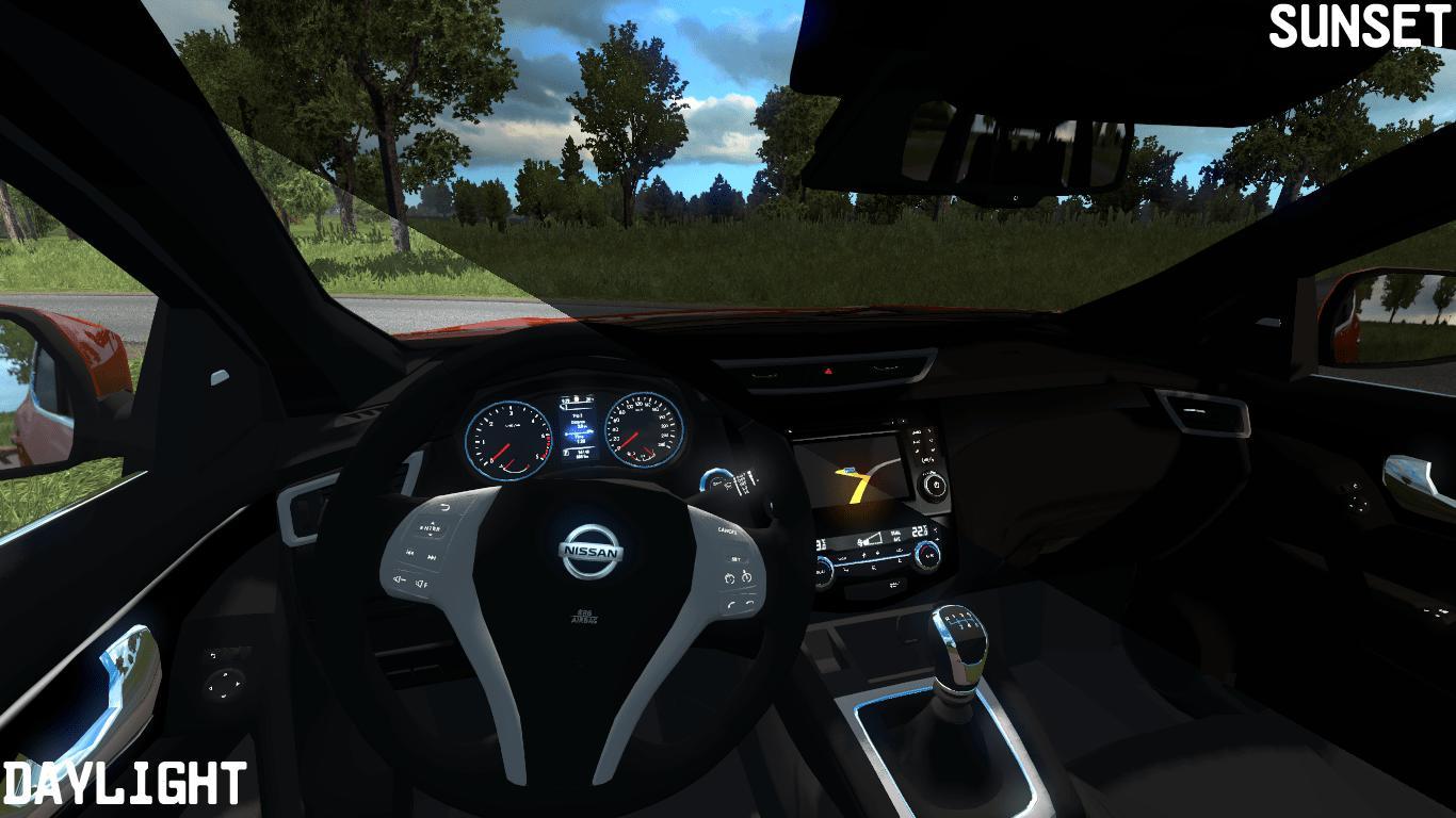 ETS2 - Nissan Qashqai 2016 V2.0 (1.36.x)