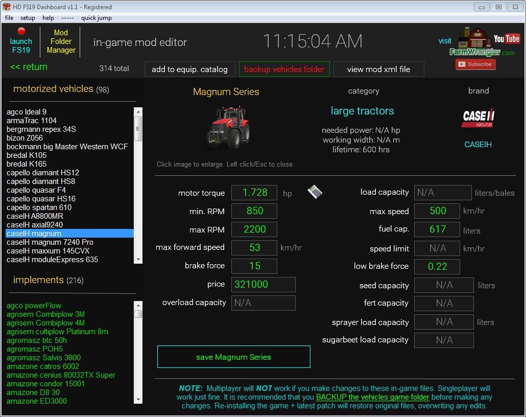 FS19 - Dashboard v2.1