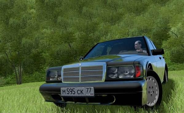 City Car Driving 1.5.9 - Mercedes-Benz 190 TD 2.5
