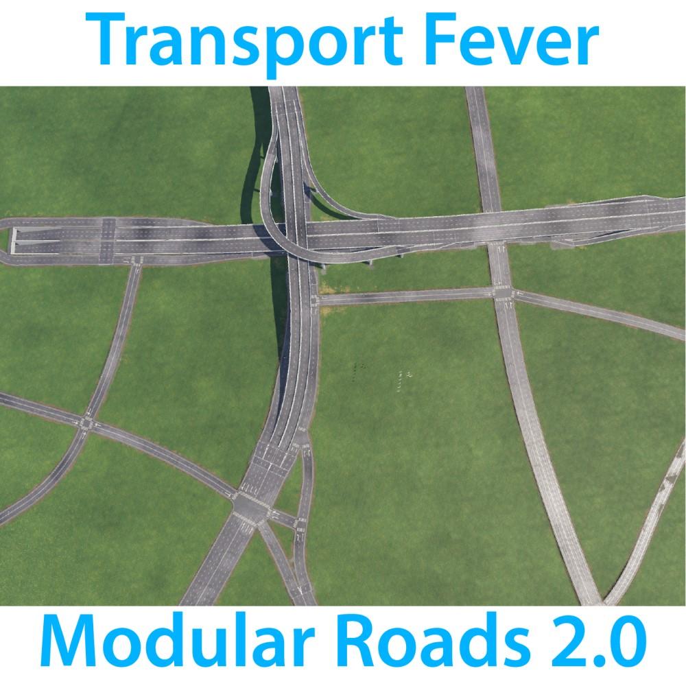 TFMR2.0 (Transport Fever Modular Road)
