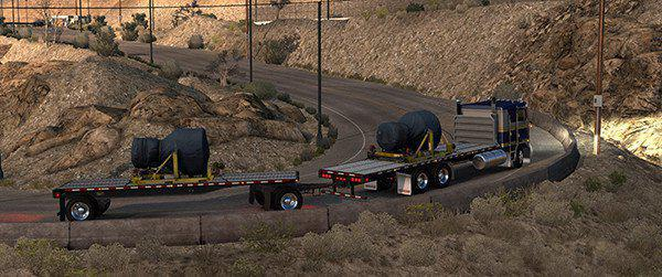 ATS - Kenworth K100E Truck and Trailer Add-on Mod V1.3 (1.36.x)