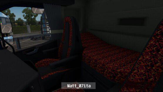 ETS2 - Volvo 2012 (Sleeper Cab) Sample Red Pluche Interior + Exterior V1.0 (1.40.x)