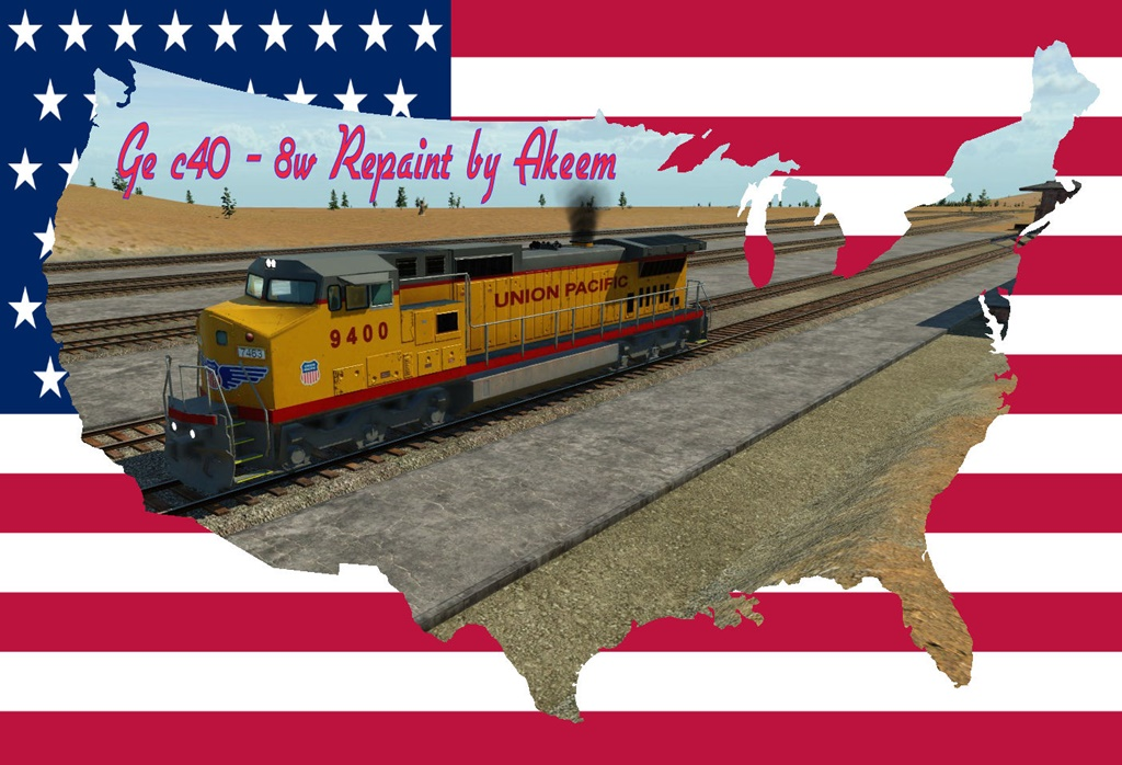 Transport Fever 2 - GE C40 8W - Union Pacific + Double Traction