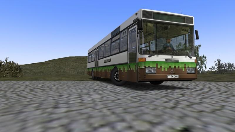 Omsi 2 – Mercedes-Benz O407 Minecraft Skins V2.2.012