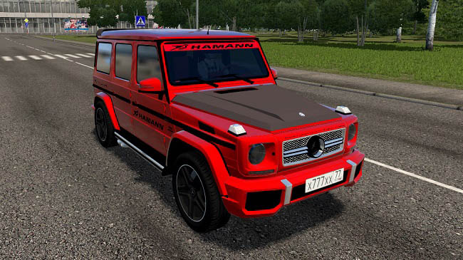 City Car Driving 1.5.9 - Mercedes-Benz G65 Red Tuning Car