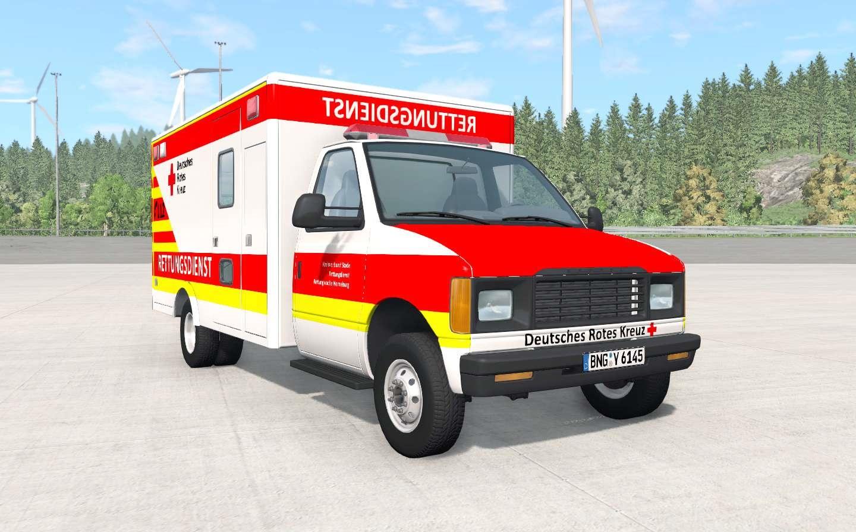 BeamNG - Gavril H-Series German Ambulance Car Mod V1.3