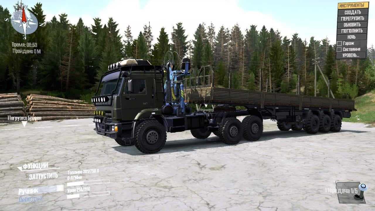 Spintires:Mudrunner - Kamaz 44118 Truck V08.09.20