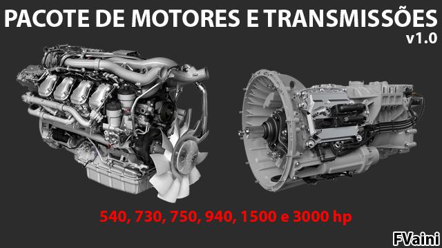 ETS2 - Engines And Transmissions Pack V1.0 (1.40.x)