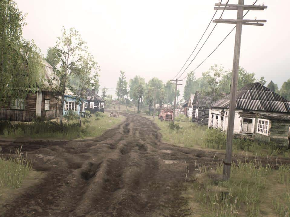"""Spintires - Challenge Map """"Two Shores of the Village"""" V2.0"""