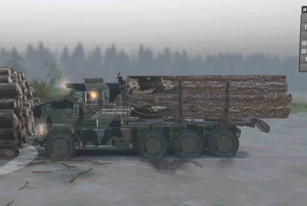 Spintires - Oshkosh M1100 Super Duty HET V2