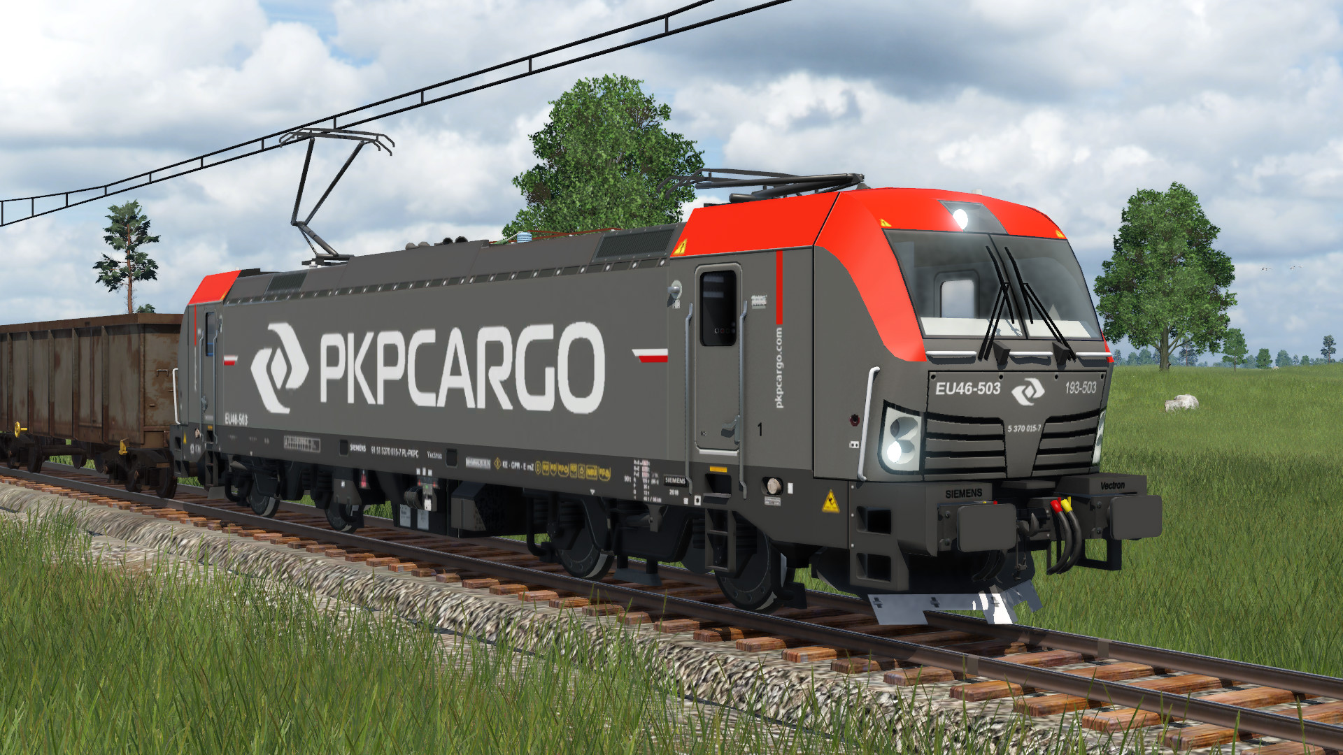 Transport Fever 2 - PKP Cargo EU46 Siemnes Vectron