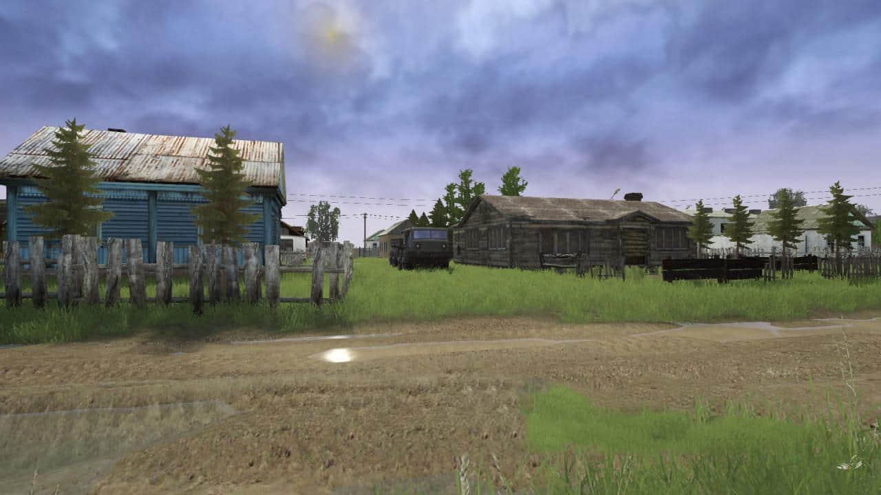 Spintires:Mudrunner - Unfamiliar Village Map V1.0
