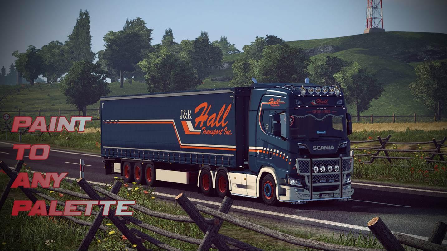 ETS2 Scania S Krone Trailer JampR Hall Skin V10 136x