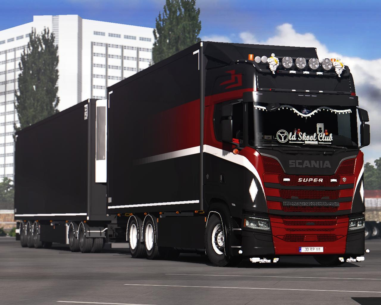 ETS2 - Paintable Old School Skin for Scania Tandem V1 (1.37.x)