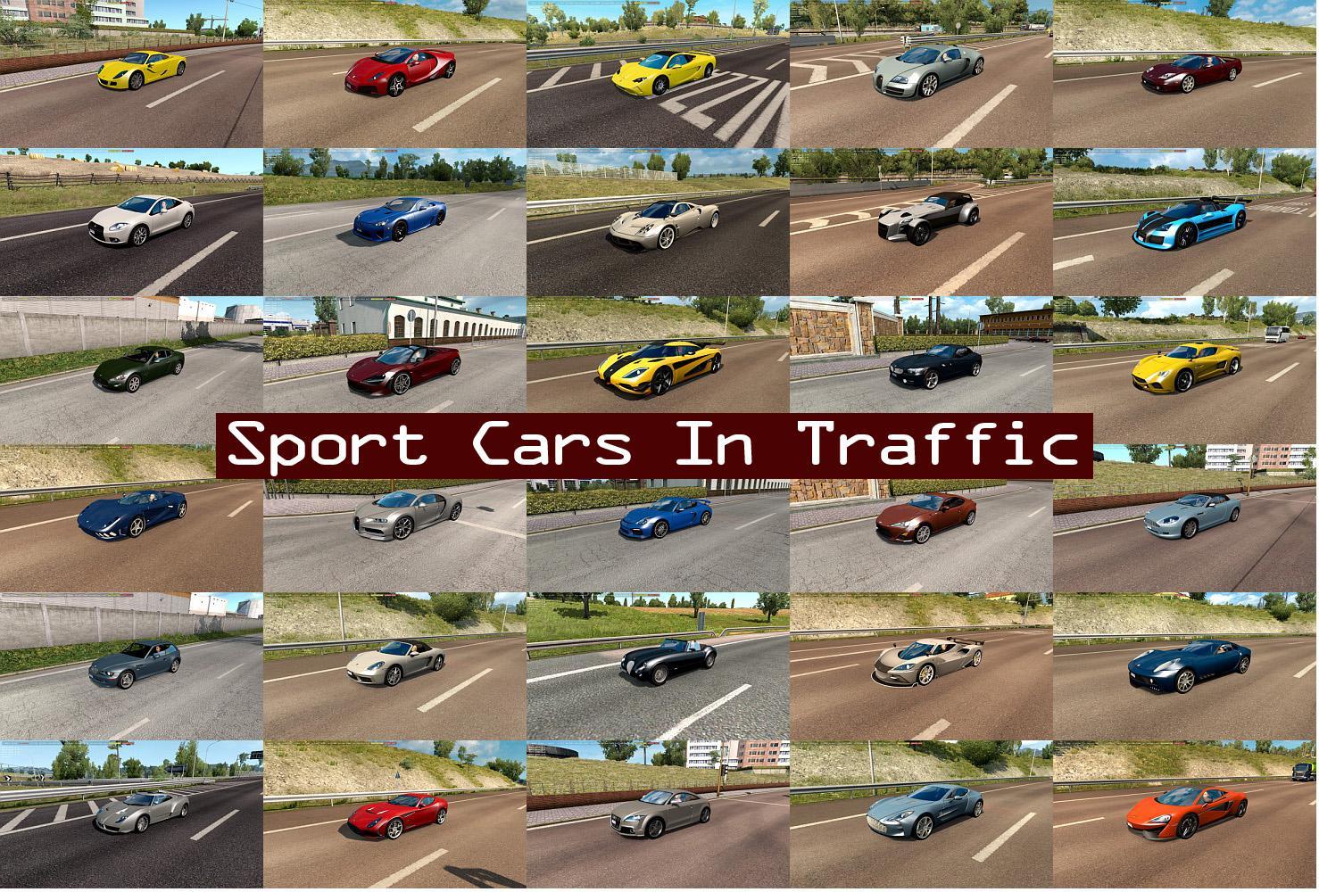 ETS2 - Sport Cars Traffic Pack V5.0 (1.36.x)