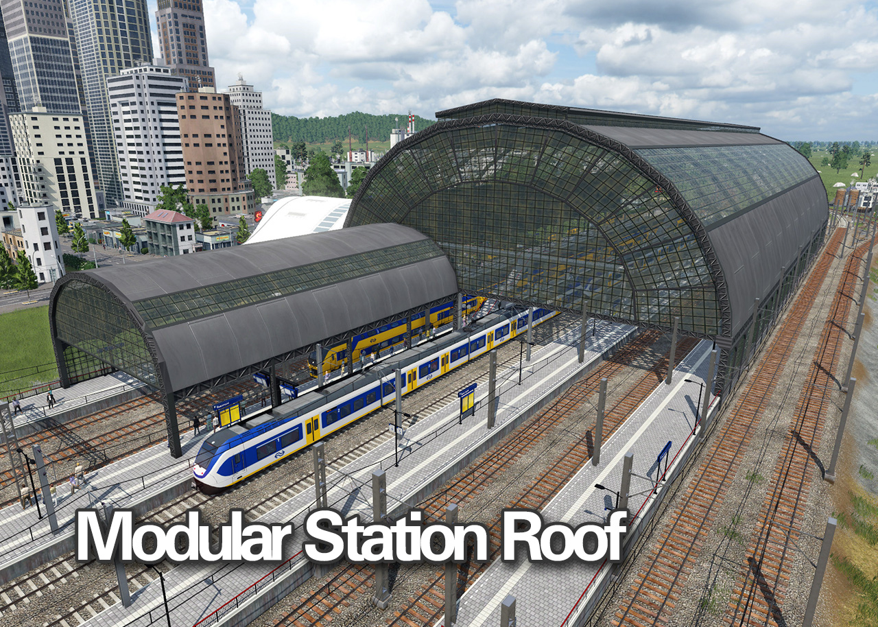 Transport Fever 2 - Modular Station Roof