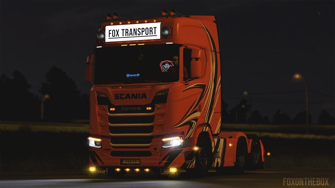 ETS2 - Scania NextGen R/S Dynamic Blinkers Mod (1.37.x)