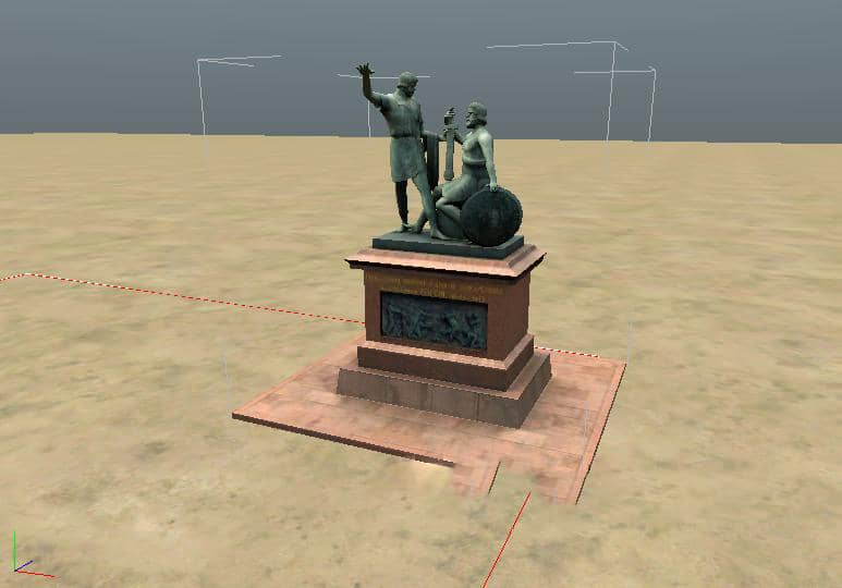 Spintires - Object Monument to Minin and Pozharsky V1.0.0