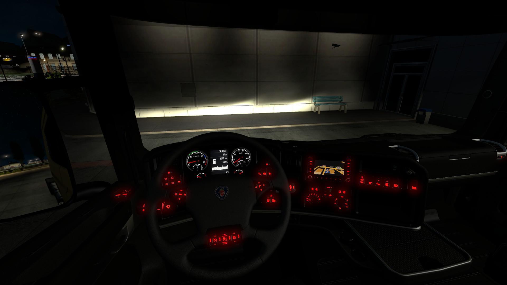 ETS2 - Red interior Light V1.0 (1.35.X)