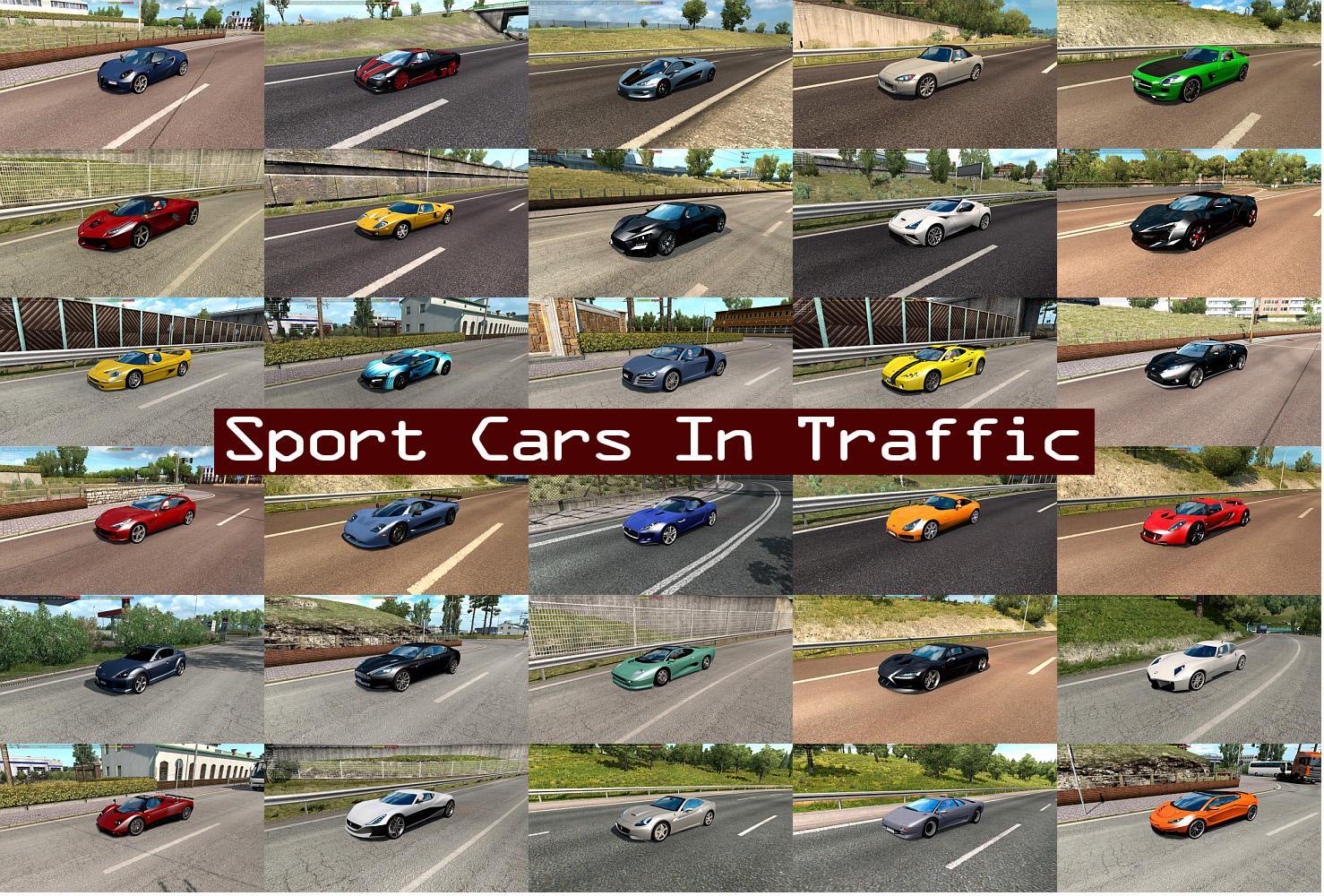 ETS2 - Sport Cars Traffic Pack V5.3 (1.36.x)