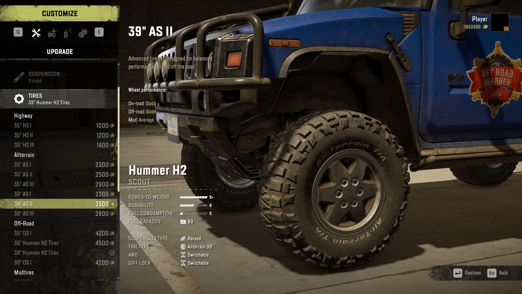 SnowRunner - Scout Tires Tweak V1.0