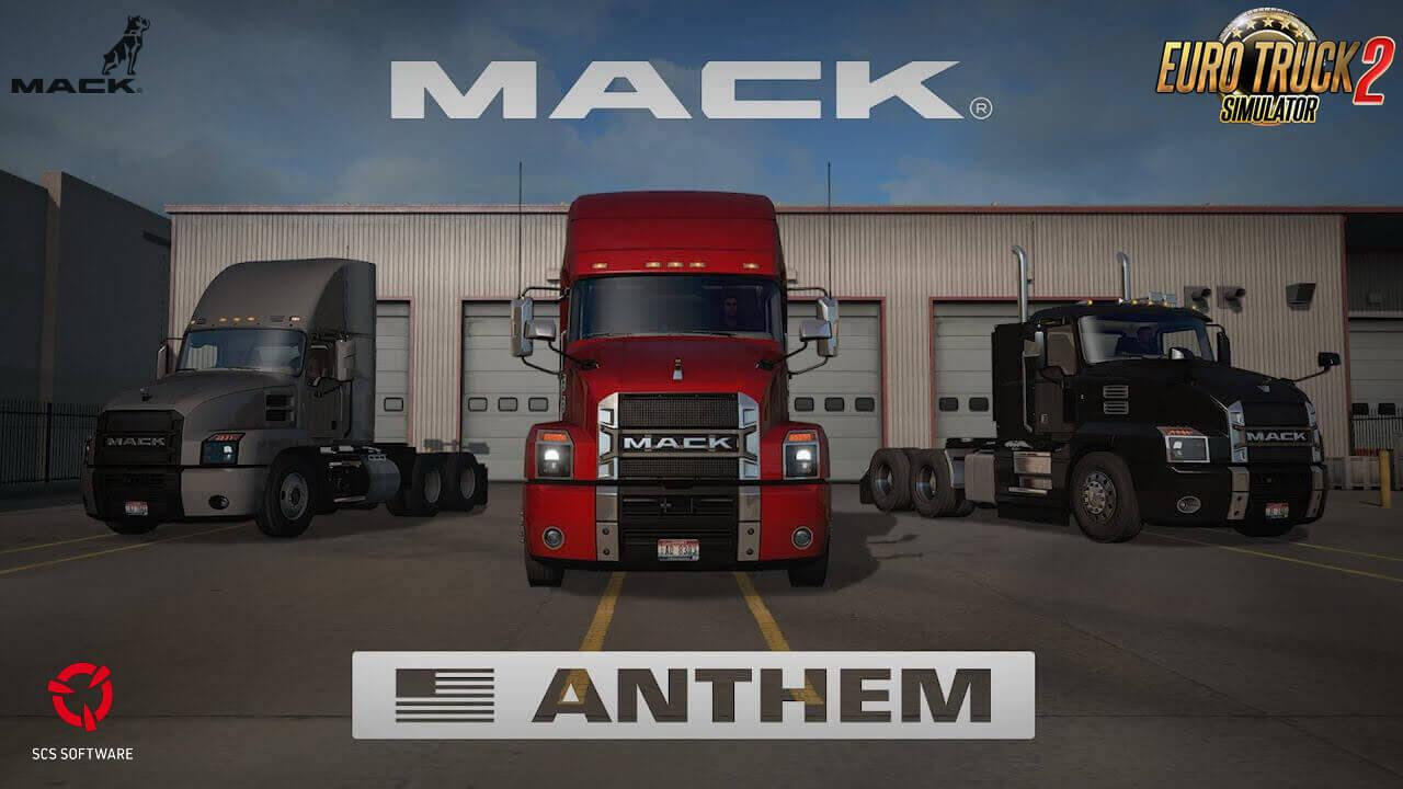 ETS2 - Mack Anthem + Interior V2.2 (1.39.x)
