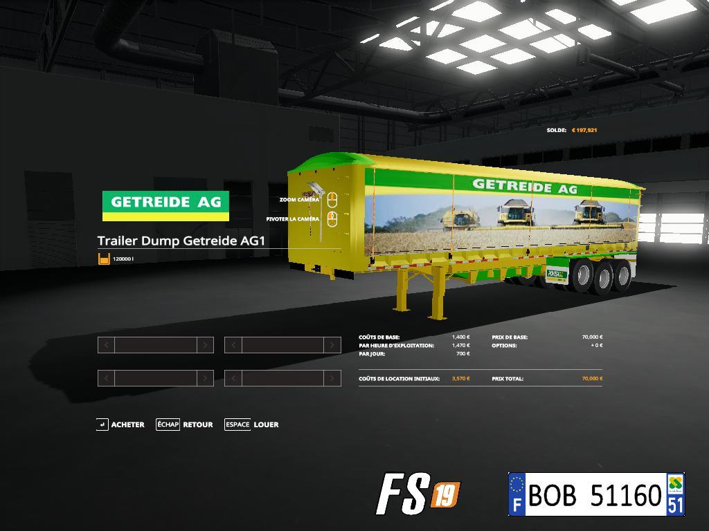 FS19 - 4 Dump Trailers Pack V2.0