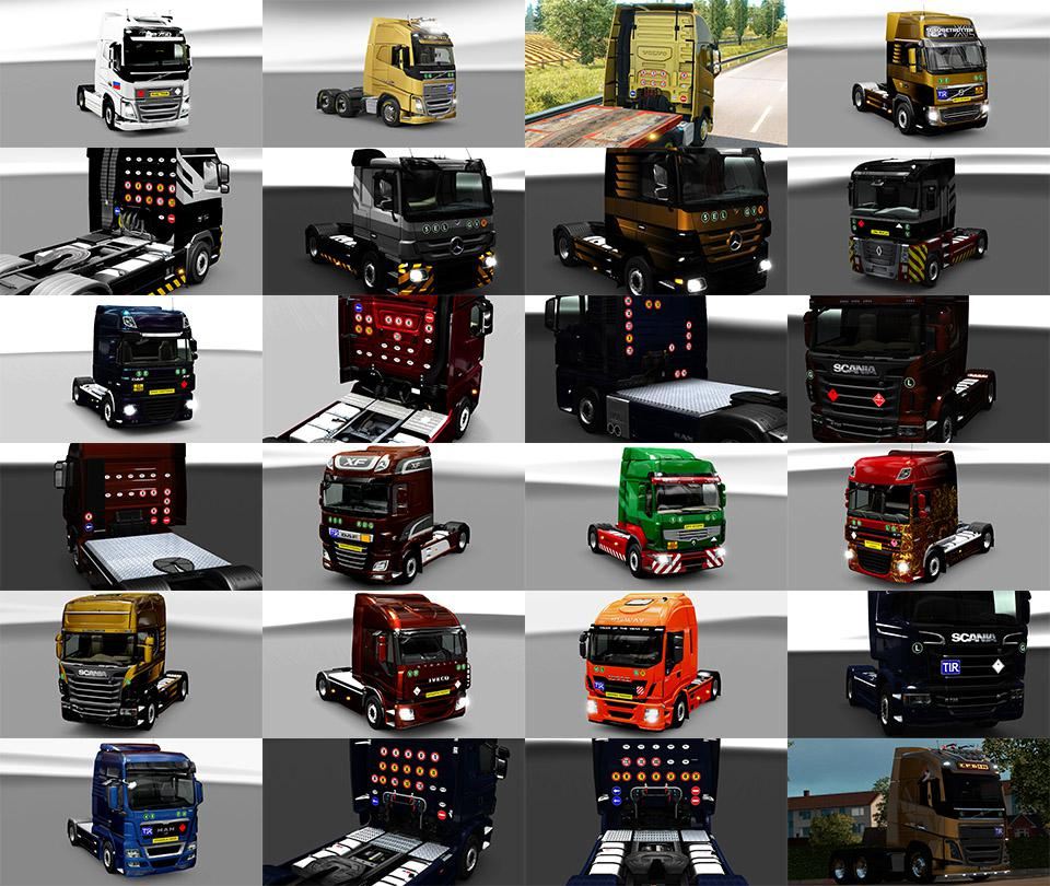 ETS2 - Signs on your Truck V1.1.1.88 (1.35.x)