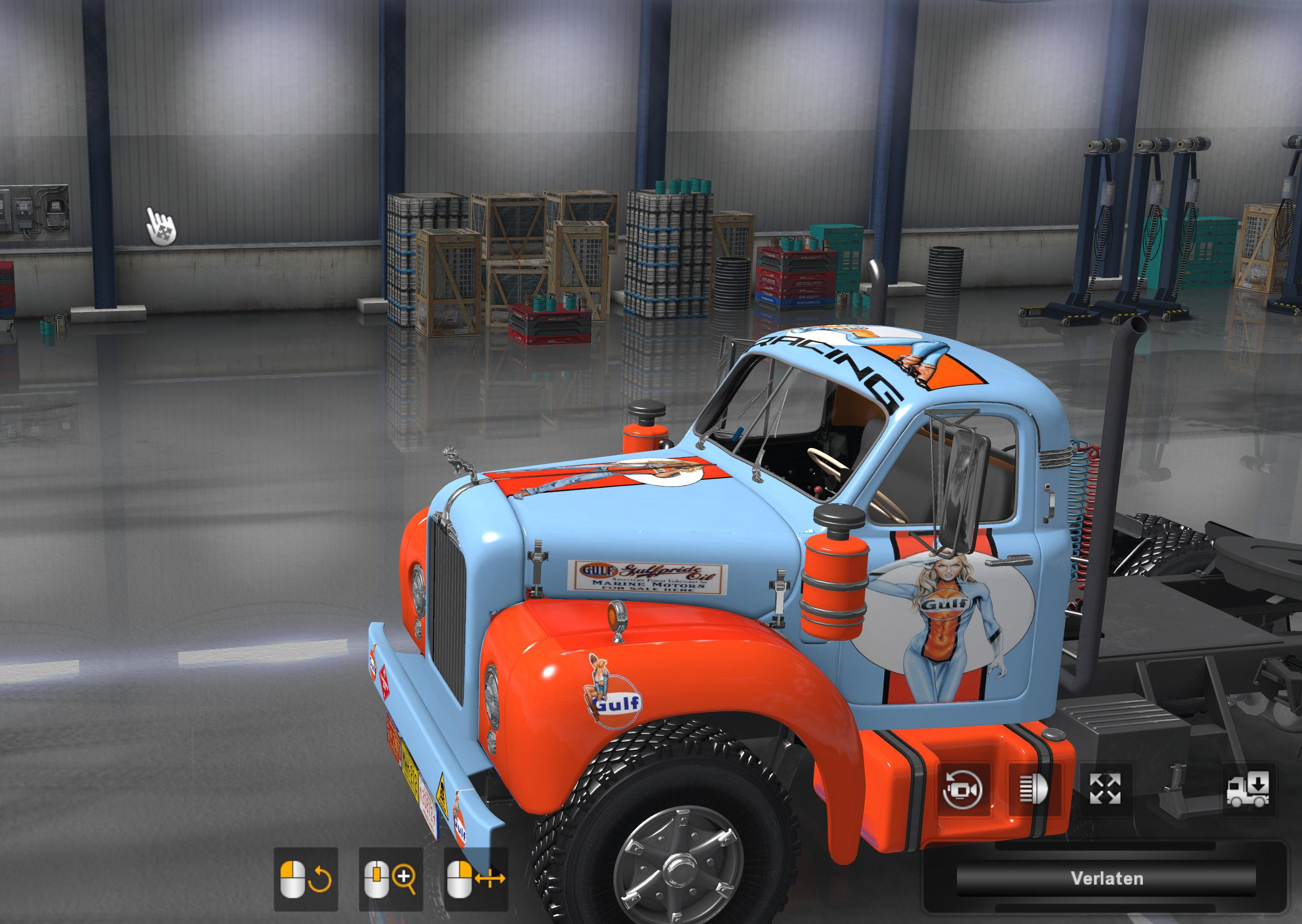 ATS - Mack B62 Gufl Pin-Up Skin V1.0 (1.36.x)