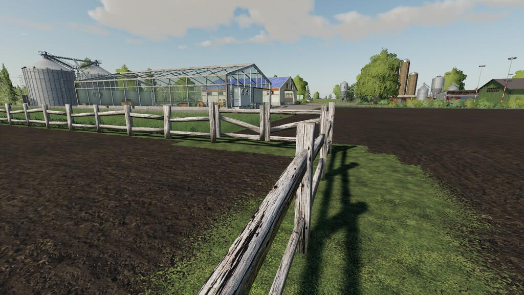 FS19 - Old Fence With Gate V1