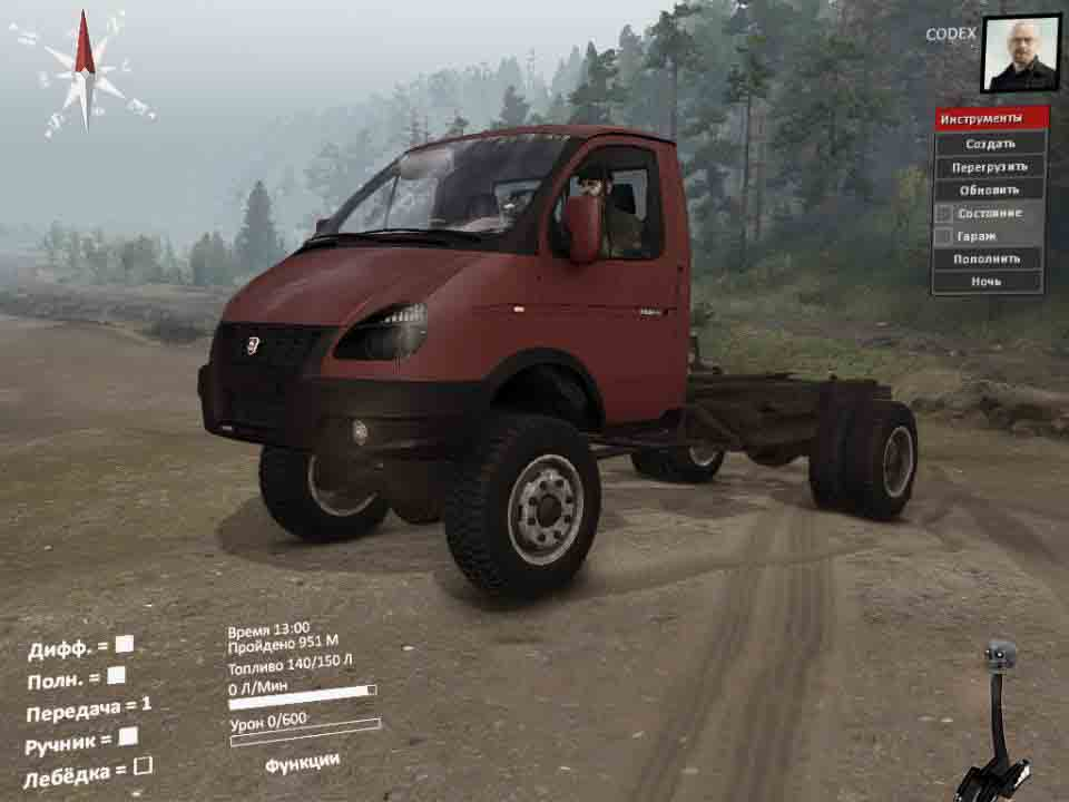 Spintires - Something 10 – Valdai Gas 4×4 Mod