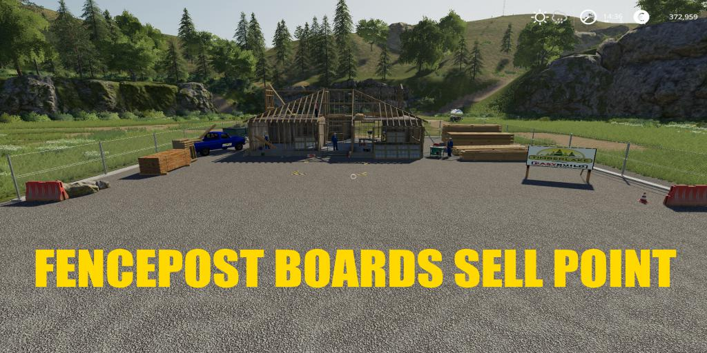 FS19 - Fencepost And Boards Sell Point V1.0