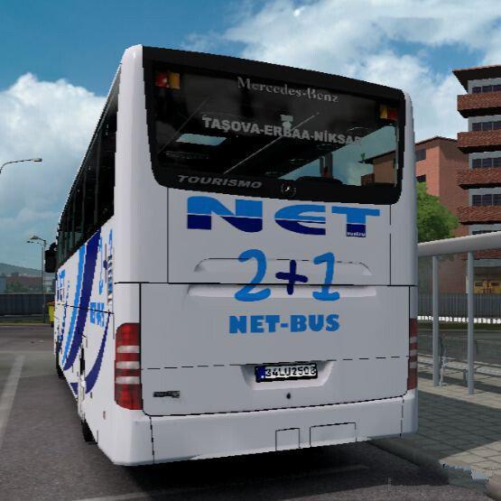 ETS2 - Mercedes-Benz Tourismo 16 RHD Net Turizm SkinPack (1.39.x)