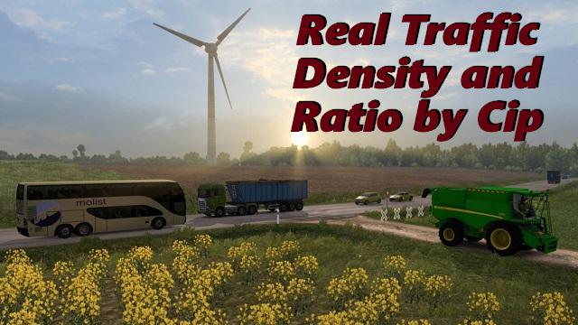 ETS2 - Real Traffic Density and Ratio (1.36.x)