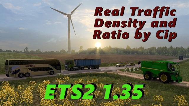 ETS2 - Real Traffic Density and Ratio 1.36.b