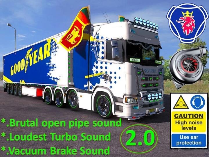 ETS2 - Scania V8 Open Pipe Brutal Sound V2.0 (1.40 - 1.41)