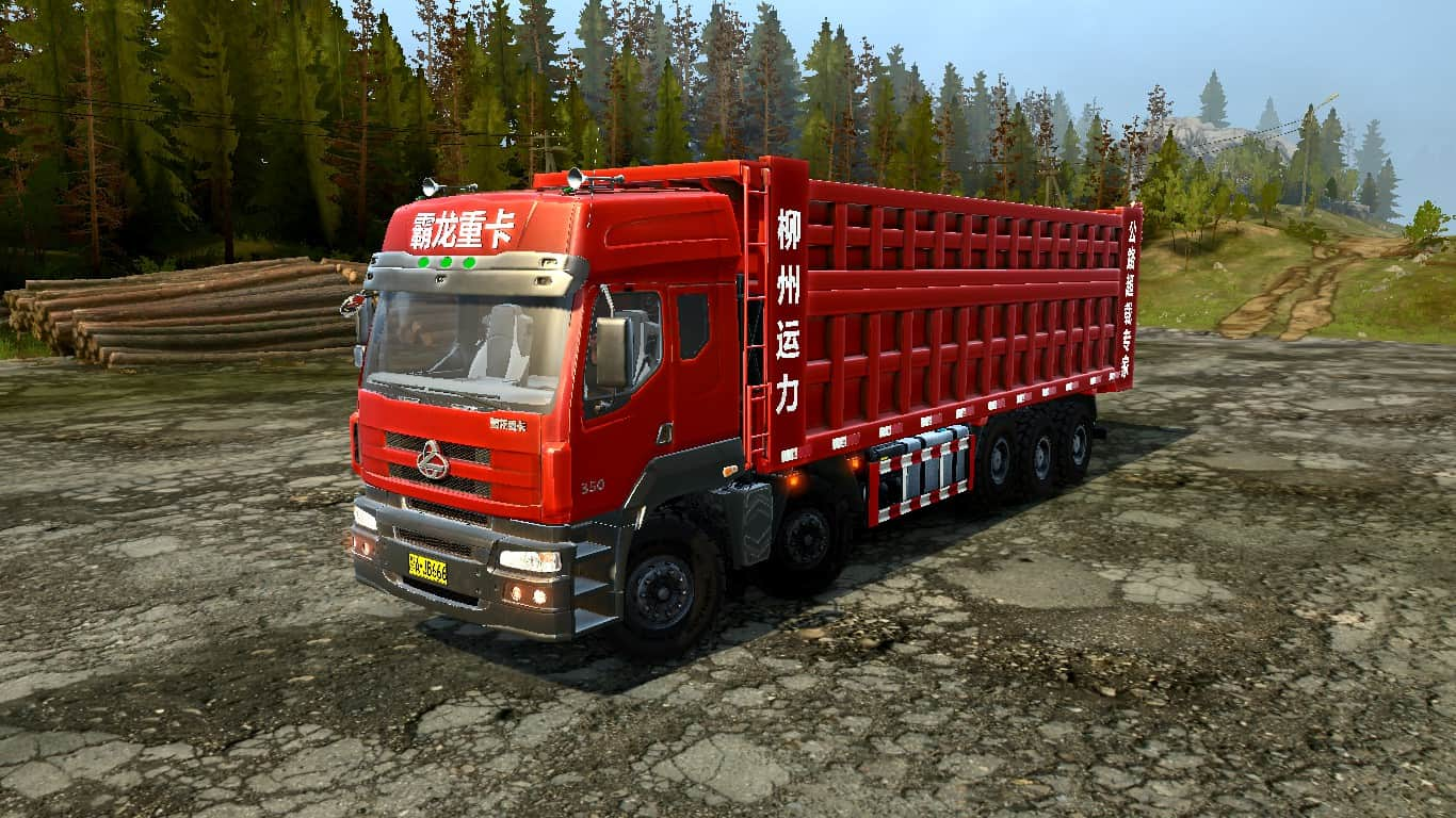 Spintires:Mudrunner - Dongfeng Balong-350 (6X12) Truck v1.0