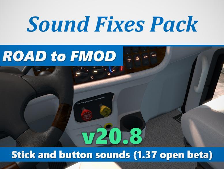 ATS - Sound Fixes Pack V20.8 (1.37.x)