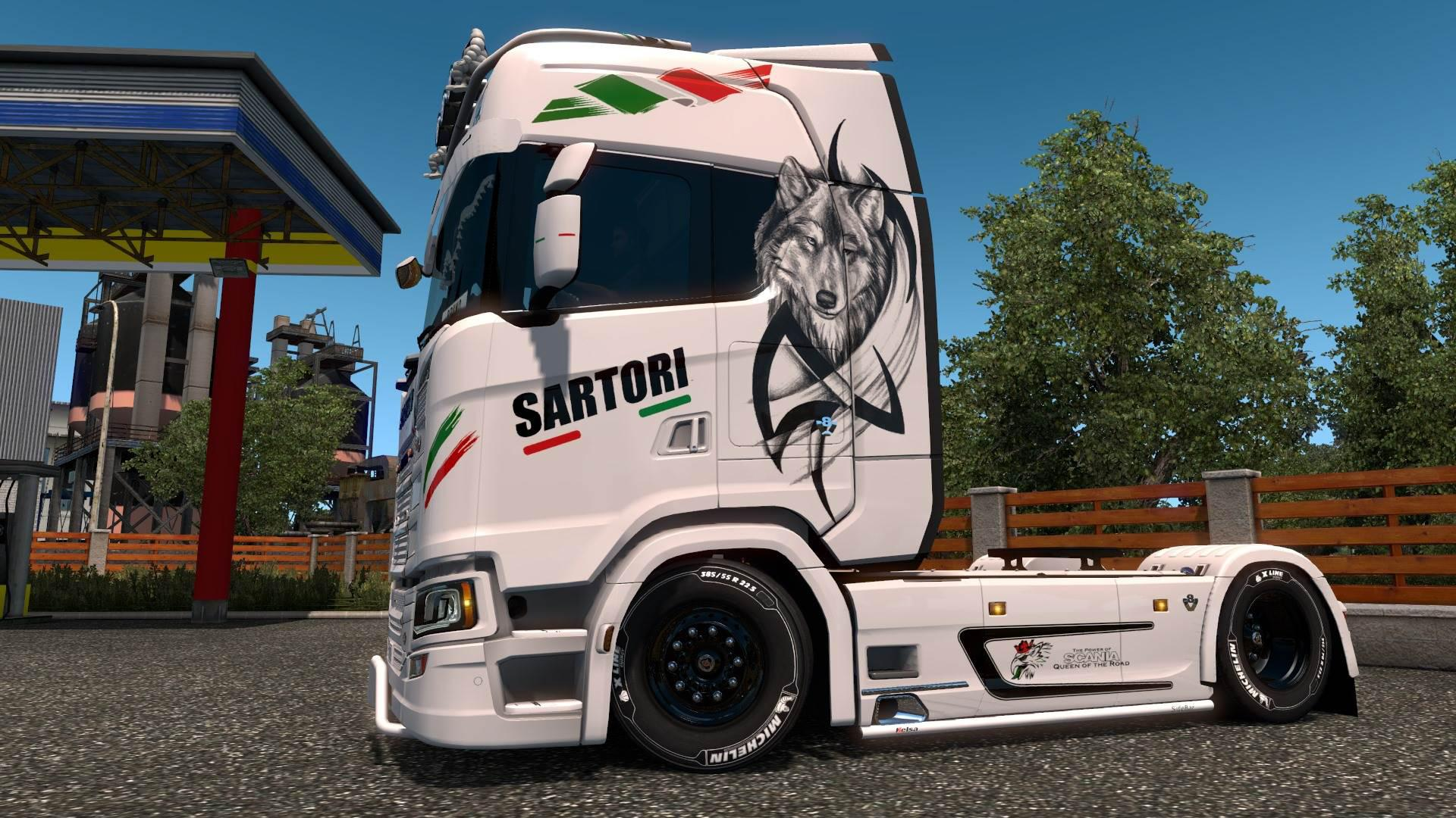 ETS2 - Volvo FH 2012 and Scania S Sartori Edition Skin V1.0 (1.35.X)