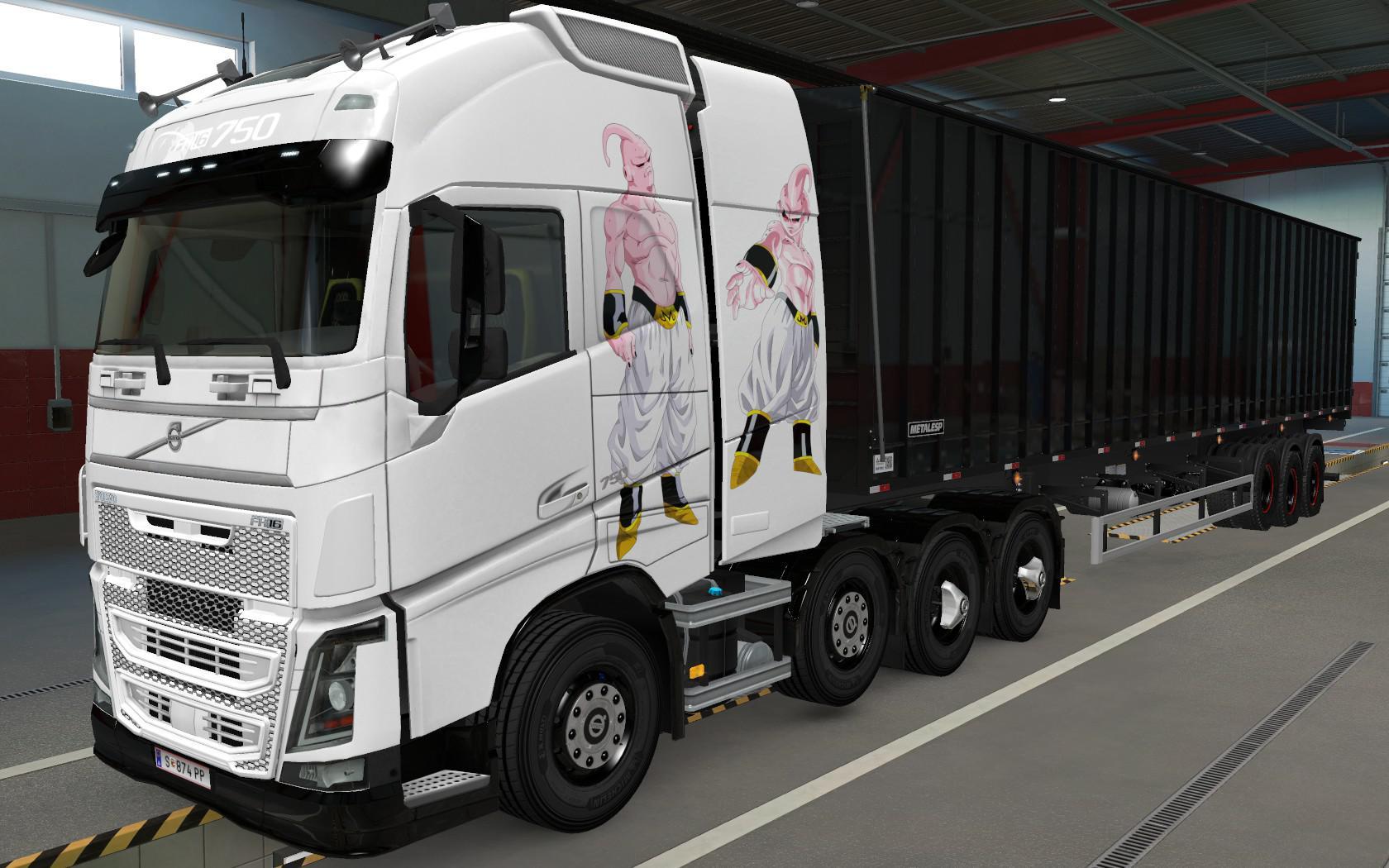 ETS2 - Volvo FH16 2012 8x4 Majin Boo Skin (1.39.x)