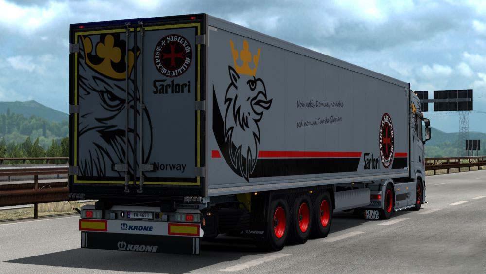 ETS2 - Krone Trailer Sartori Transport Skin V3.0 (1.35.X)