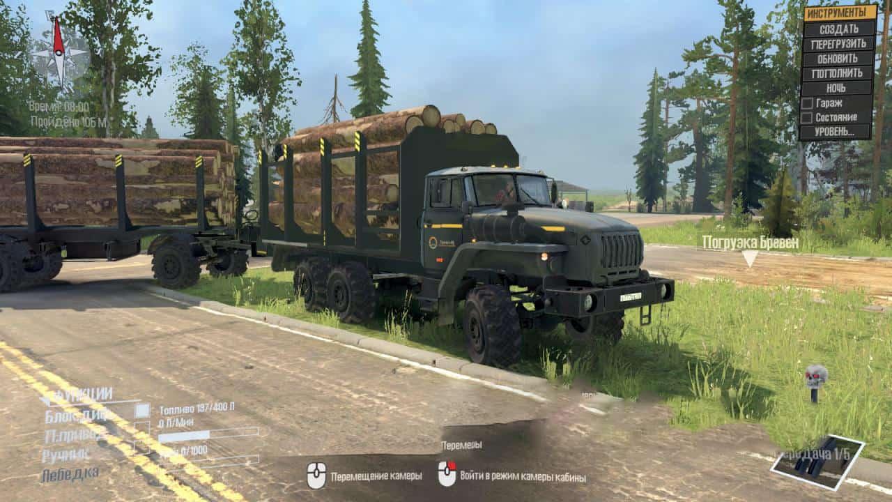 Spintires:Mudrunner - Ural-4320-10 Truck V2.0