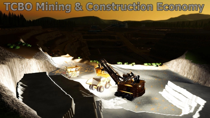 FS19 - TCBO Mining Construction Economy Map V0.3
