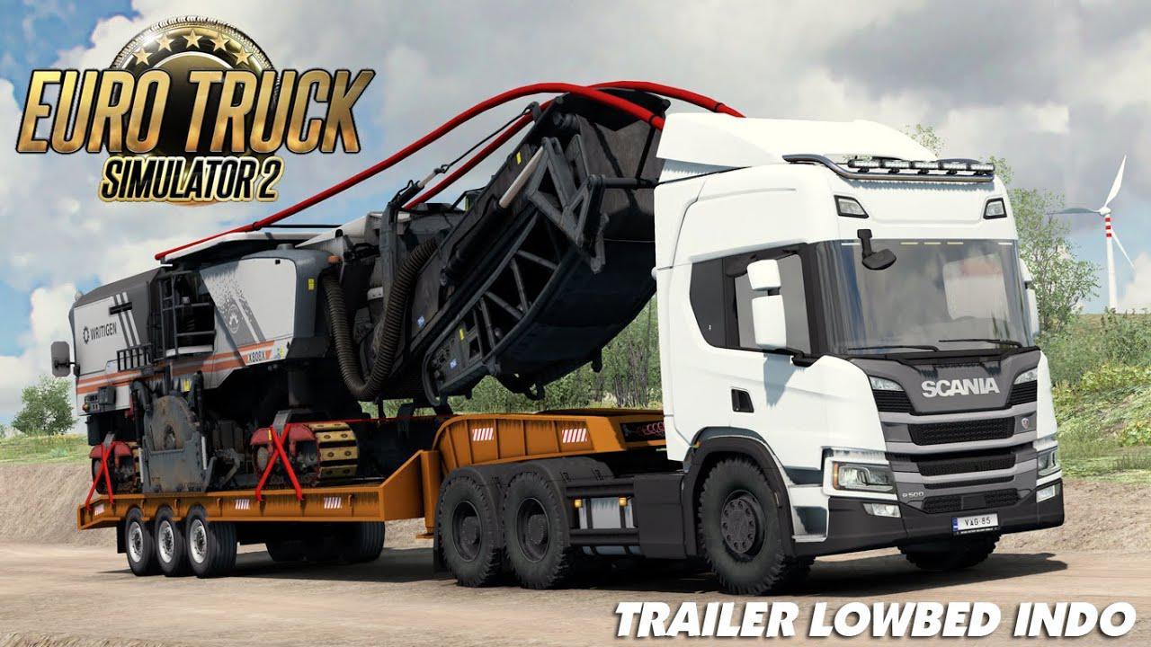 ETS2 - Lowbed Indo Trailer (1.38.x)