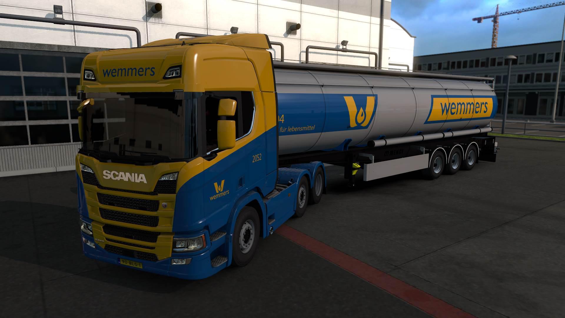 ETS2 - Wemmers Tanktransport Skin Pack V1.0