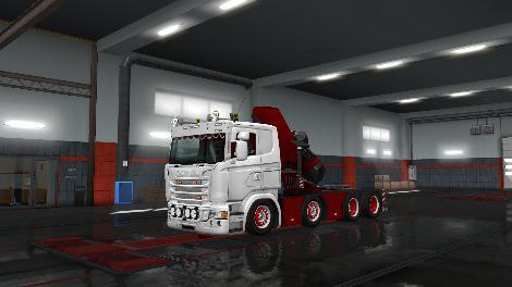 ETS2 - Scania RJL Crane Addon 8x4 Chassis V2.0 (1.35.X)