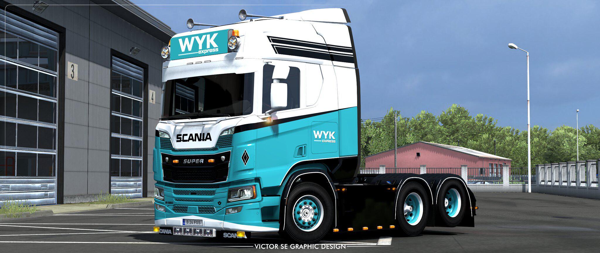 ETS2 - Scania R Highline 2016 WYK Express Skin V1.0 (1.36.x)