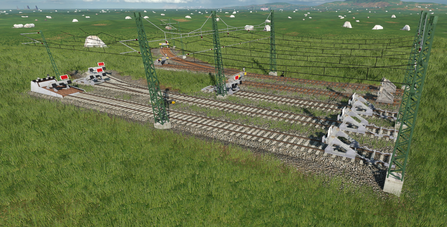 Transport Fever 2 - Addon Track German Overhead Line